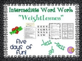 "Word Work and Vocabulary 5-Day Intermediate Unit ""WEIGHTLESSNESS"""