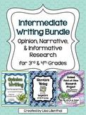 Common Core Writing Bundle #1 ~ Opinion, Narrative, & Info