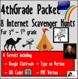 Internet Scavenger Hunt Packet - Fourth Grade