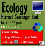 Internet Scavenger Hunt - Intermediate Grades - Ecology