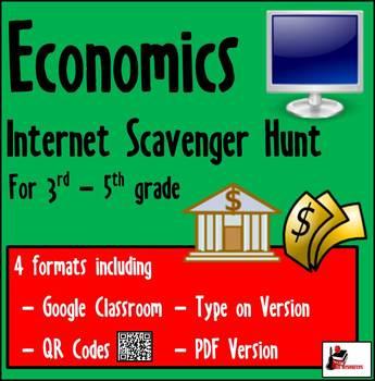 Internet Scavenger Hunt - Intermediate Grades - Economics