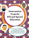 Intervention and Special Education Toolbox {RTI}