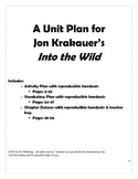 Into the Wild Unit Plan - Activities/quizzes/vocabulary work