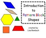 Intro to Pattern Block Shapes Math SmartBoard Lesson Prima
