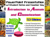Introduction to Animals & Classification PowerPoint, Stude