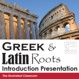 Greek and Latin Roots Introduction PowerPoint and Quiz Bundle