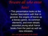 Introduction to Horror Genre