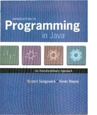 Introduction to Programming in Java: An Interdisciplinary
