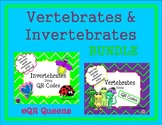 Invertebrates and Vertebrates Bundle using QR Codes