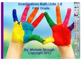 Investigations Math, Units 1-8, 1st grade
