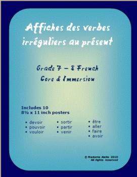 Irregular Verb Conjugation Posters - Intermediate French