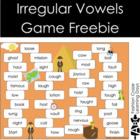 Irregular Vowels Game Freebie