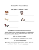 Is it a Concrete or Abstract Noun? Handout and Activity