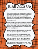 It All Adds Up {Novel Activities}
