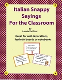 Italian Snappy Sayings (or chants) For All Classroom Situations