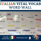Italian Vital Vocabulary Word Wall