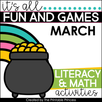 It's All Fun & Games {March Math & Literacy Activities for Kindergarten}