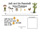 Jack and the Beanstalk Simple Word Problem Practice--Addit