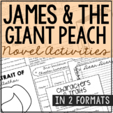 James and the Giant Peach Interactive Notebook