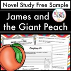 James and the Giant Peach Novel Study Sample FREEBIE