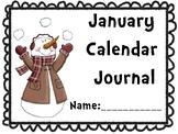 January Calendar Journal (Integrates math and literacy!)