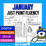 January Just Print Fluency Pack