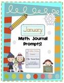 January Math Journal Prompts