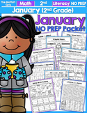 January NO PREP Math and Literacy (2nd Grade)