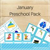 January Preschool Pack