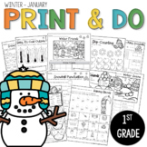 Printables January Print and Do- Winter No Prep Math and L