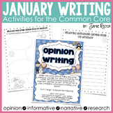 January Writing Activities Aligned to Common Core Standards