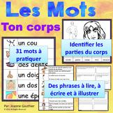 Je travaille mon vocabulaire: Les parties du corps {French