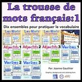 Je travaille mon vocabulaire: trousse 1 {French Vocabulary