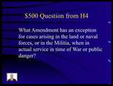 Jeopardy Law Game Bill of Rights Criminal Constitutional Law