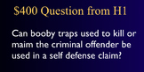 Jeopardy Law Game - Criminal Defenses, Trials