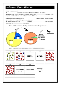 Jnr Science - Chemistry Part B - Mixing and Separating