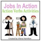 """""""Jobs In Action"""" Action Verbs Activities"""