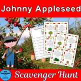 Johnny Appleseed Scavenger Hunt with bonus apple graphs