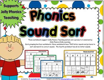 Phonics Sound Sort To Support Jolly Phonics Teaching - Books 1 -7