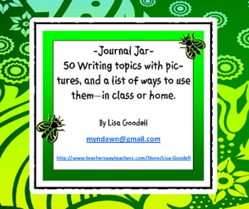 Journal Jar: 50 Writing topics with pictures. For class or home