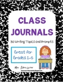 Journal Writing Prompts / Themes - Journal Covers / Labels