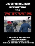 Journalism: Reporting Practice Worksheets