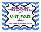 Journeys Kindergarten Sight Word Centers- Unit 4