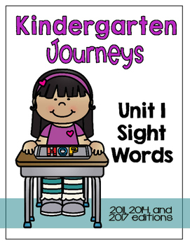 Journeys Kindergarten Sight Words: Unit 1