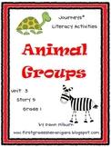 Journeys®  Literacy Activities - Animal Groups - Grade 1