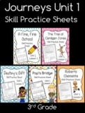 Journeys Unit 1 (Third Grade): Skill Practice Sheets