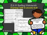 Journeys Unit 2 Weekly Homework for 2nd grade