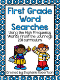 1st Grade Word Searches with Words to Know from the Journe