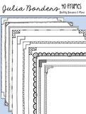 Julia Doodles- 40 Frames for Commercial Use