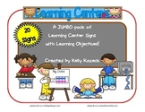 Jumbo Pack of Learning Center Signs for Early Childhood